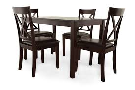 mathis brothers dining tables mb home five piece espresso dining set mathis brothers furniture