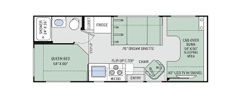 class c motorhome floor plans freedom elite class c motorhomes floor plan 23h thor motor coach