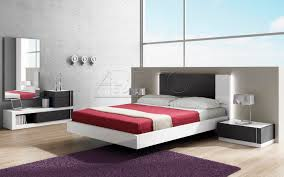 floating bed double contemporary lacquered wood select