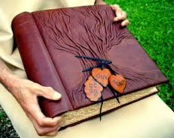 Leather Bound Photo Albums Personalized Leather Journals Photo Albums By Leatherdust On Etsy