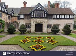 courtyard in baddesley clinton a moated manor house near warwick