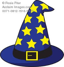 free clipart illustration of a wizard s hat with stars