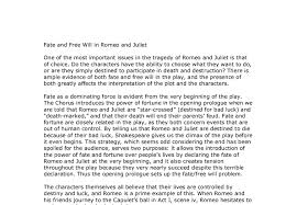 theme of fate in romeo and juliet essay fate and free will in romeo and juliet gcse english marked by