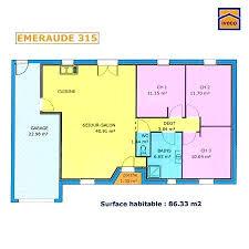 plan maison contemporaine plain pied 3 chambres plan maison simple 3 chambres 9 de individuelle plain pied plan