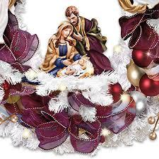 kinkade blessings illuminated wreath with