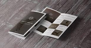 two fold brochure template psd 20 single fold brochure templates
