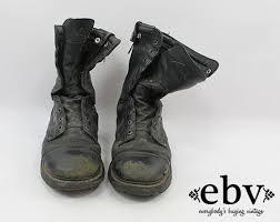 womens black combat boots size 11 vintage 90s grunge leather combat boots 039 s combat boots