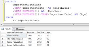 sql difference between two tables how to calculate age in sql server