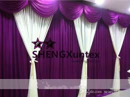 Purple Design Curtains New Design Beautiful Looking Wedding Backdrop Curtain White And