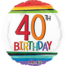 40th birthday balloons delivered rainbow 40th birthday balloon delivered inflated in uk
