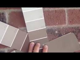 exterior sample colors for brown washed red brick youtube