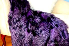 Faux Fur Blankets And Throws Paradise Bird Feather Ostrich Purple Throw Faux Fur