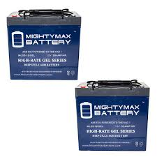 Jazzy Power Chair Battery Replacement 2 Pack 12v 55ah Jazzy Select 14 Xl Jet 1 Hd 2 10 12 Power Chair