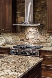 charming wonderful stacked stone kitchen backsplash stacked stone