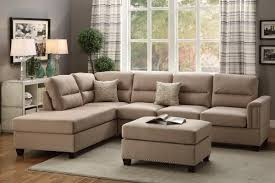 Sofa And Sectional Brown Fabric Sectional Sofa And Ottoman A Sofa Furniture