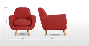 Armchair Dimensions Jonah Armchair Ketchup Red Made Com
