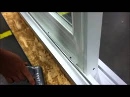 sliding window panels for sliding glass doors paradigm windows removing stationary panel on patio door youtube