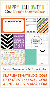 Free Halloween Cards Printable Halloween Journaling Filler Cards