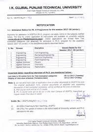 ph d admissions i k gujral punjab technical jalandhar