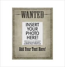 free printable wanted poster template calendar picture templates