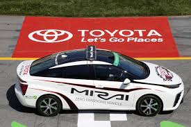 world auto toyota 2016 toyota mirai is first fuel cell car to pace a nascar race tonight