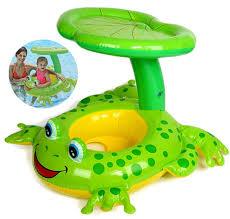 siege enfant gonflable anneau de bain en vacances grenouille parasol flottant d été