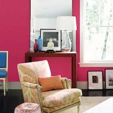 neon pink wall paint contemporary bathroom benjamin moore