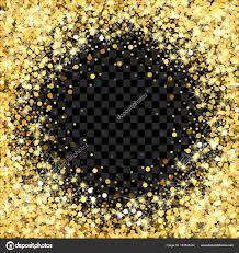 Glitter Backdrop Gold Glitter Frame With Empty Space For Text Scattered Golden