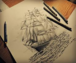 drawing a pirate ship drawing art library