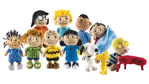 the peanuts is back as a cast of crocheted characters
