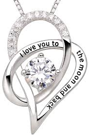 ring pendants necklace images Alov jewelry sterling silver i love you to the moon jpg