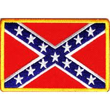 Us Confederate Flag Rebel Confederate Southern Flag Patch Small