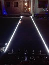 lighting the entrance path with led strip lights 5050 ledstrip