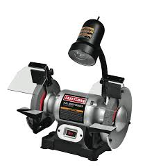 Pro Tech Bench Grinder Craftsman 1 6 Hp 6 In Bench Grinders With Lamp 009 21124 Free