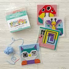 stitchin u0027 time kids needlepoint kit the land of nod
