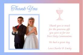 personalised boy photo communion thank you cards