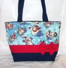 bags of christmas bows handmade christmas tote handbag christmas purse tote bag