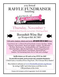 Fundraising Invitation Card Friends Of Kc Animals Events Annual Raffle Fundraiser