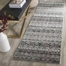 rug runner 2 x 6 safavieh monaco collection mnc225e grey and light blue runner 2 2
