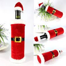 set 2 christmas wine bottle covers u2013 instyle home decor