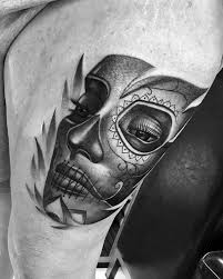 la catrina tattoo thigh cover with old la catrina idea golfian com