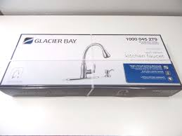 glacier bay 1000045279 pull down kitchen faucet stainless steel