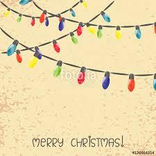 vintage christmas lights vintage christmas lights vector watercolor illustration stock