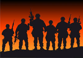 Soldier With Flag Soldiers With Flag Clipart