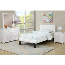 twin size bed in white