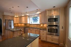 natural maple cabinets with granite gallery