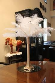 Feather Vase Centerpieces by Lighted 20 Ostrich Feather Centerpiece By Chantillysboutique