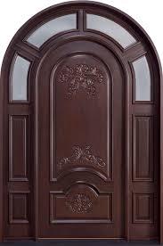 front door custom single with 2 sidelites solid wood with dark