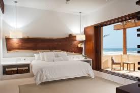 chambre contemporaine blanche design interieur chambre coucher moderne blanche accents bois
