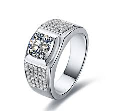 man rings design images 1ct white gold 14k romantic round famous design charles colvard jpg